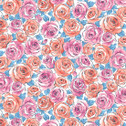 Top Drawer - Roses Baby Blue from Andover Fabrics