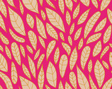 Mosaic - Leaves Magenta by Shannon Brinkley from Andover Fabrics