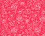 Mosaic - Rose Outlines Cherry by Shannon Brinkley from Andover Fabrics