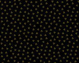 When Sparks Fly METALLIC - Sweet Nothings Triangles Glimmer Black by Libs Elliott from Andover Fabrics