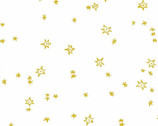 Good Cheer Metallic - Silent Night Stars Bright Gold by Molly Hatch from Andover Fabrics