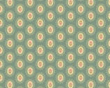 Crystal Farm - Medallion Pale Blue from Andover Fabrics