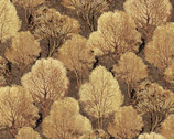 Quail - Trees Brown by Kathy Hall from Andover Fabrics