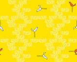 Zaza Zoo - Birds Yellow from Andover Fabrics