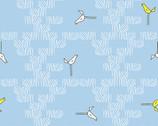 Zaza Zoo - Birds Blue from Andover Fabrics
