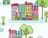The Neighborhood - Homes Teal from Andover Fabrics