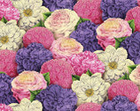 Flower Show - Packed Flowers Multi by Anne Rowan from Wilmington Prints Fabric