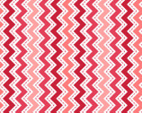 Lil Sprout Too FLANNEL - Zig Zag Red by Kim Christopherson from Maywood Studio Fabric