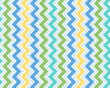 Lil Sprout Too FLANNEL - Zig Zag Blue by Kim Christopherson from Maywood Studio Fabric