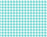 Lil Sprout Too FLANNEL - Houndstooth Teal by Kim Christopherson from Maywood Studio Fabric