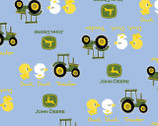 John Deere - Tractor and Ducks Blue from Springs Creative Fabric
