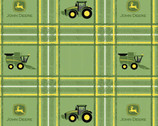 John Deere - Tractor Grid Green from Springs Creative Fabric