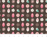 Gingerbread Bakery - Petits Fours Chocolate by Paula Mcgloin from Camelot Fabrics