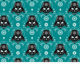 Star Wars FLEECE - Darth Vader Sugar Skulls Dark Turquoise from Camelot Fabrics