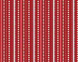 Let It Snow - Dotted Stripe Red by Contempo Studio from Benartex Fabric