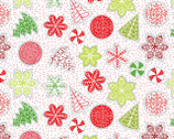 Let It Snow - Cookies White by Contempo Studio from Benartex Fabric