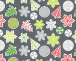 Let It Snow - Cookies Gray by Contempo Studio from Benartex Fabric