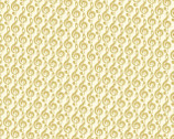 Metallic Mixers GOLD - Music Treble Cream by Kanvas Studio from Benartex Fabric