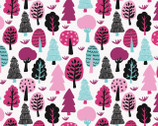 Neighbourhood - Trees White by Cotton Flower Studio from Camelot Fabrics