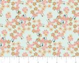 Berry Blossoms - Berri Blossoms Aqua by Teresa Chan from Camelot Fabrics