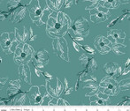 Grandale - Floral Teal by Keera Job Design from Riley Blake Fabric