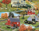 Autumn Grove - Scenic Multi by Bob Fair from Wilmington Prints Fabric