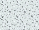 Friendly Gathering - Stars Grey by Michael Davis from Wilmington Prints Fabric