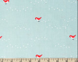 Whistle - Tiny Steps Blue from Birch Fabrics