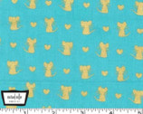 Glitter Critters Metallic - Nice Mice Luna from Michael Miller Fabrics