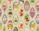 Ain't Life A Hoot - Owls Framed Beige by Phyllis Meiring from Henry Glass Fabric