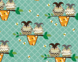Ain't Life A Hoot - Owls On Branch Teal Aqua by Phyllis Meiring from Henry Glass Fabric
