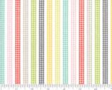 Flower Mill - Gingham Stripes Multi from Moda Fabrics