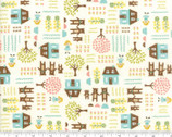 Home Sweet Home - Homes Bear Cream by Stacy Nest Hsu from Moda Fabrics