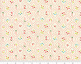 Home Sweet Home - Fruit Floral Diamond Cream Pink by Stacy Nest Hsu from Moda Fabrics
