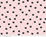 Meow and Forever - Cat Dots Pink by My Mind's Eye from Riley Blake Fabric
