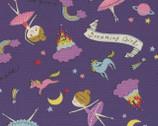 Putite Etoile - Girl Dreaming OXFORD Purple from Kokka Fabrics