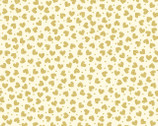 Metallic Mixers GOLD - Hearts Cream by Kanvas Studio from Benartex Fabric