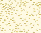 Metallic Mixers GOLD - Butterfly Cream by Kanvas Studio from Benartex Fabric