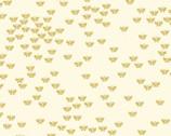 Metallic Mixers GOLD - Butterfly Cream by Kanvas Studio from Benartex Fabric