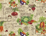 Farmer's Market - Vegetables Board Labels from Studio E Fabrics