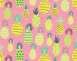 Summerlicious - Pineapple Dots Pink from Studio E Fabrics
