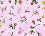 Fantasia - Floral Toss Pink from Paintbrush Studio Fabric
