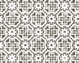 Farmhouse - Tiled Geometric White from 3 Wishes Fabric