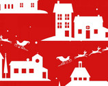 Peppermint Reindeer - Buildings Reindeer Red from Studio E Fabrics