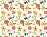 Prairie Sisters - Ruth Flowers White from Poppie Cotton Fabric