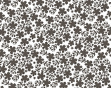 Prairie Sisters - Martha Flowers Dark Gray from Poppie Cotton Fabric