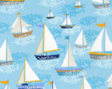 A Day At Sea - Sea Saliboats from Timeless Treasures Fabrics