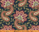 Clayton - Floral Paisley Navy by Nancy Gere from Windham Fabrics