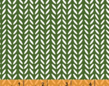 Flourish - Herringtone Leaves Green by Mia Whittemore from Windham Fabrics
