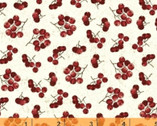 Noel - Holly Berries Natural by Whistler Studios from Windham Fabrics